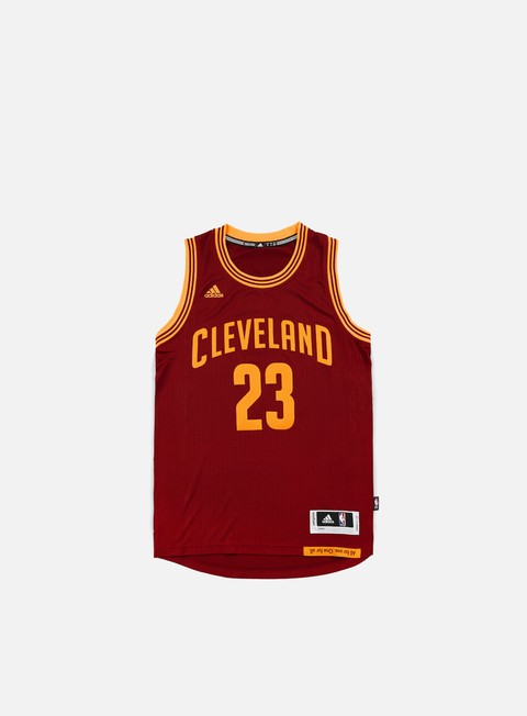 t shirt adidas originals cleveland cavaliers swingman jersey lebron james team colors