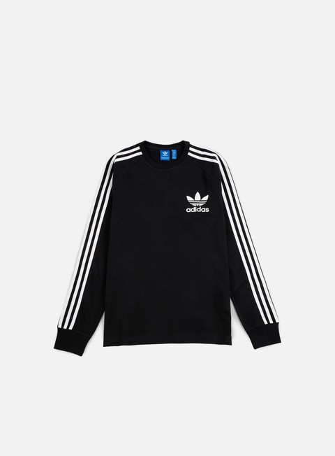 t shirt adidas originals clfn ls t shirt black