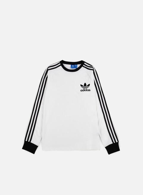 t shirt adidas originals clfn ls t shirt white