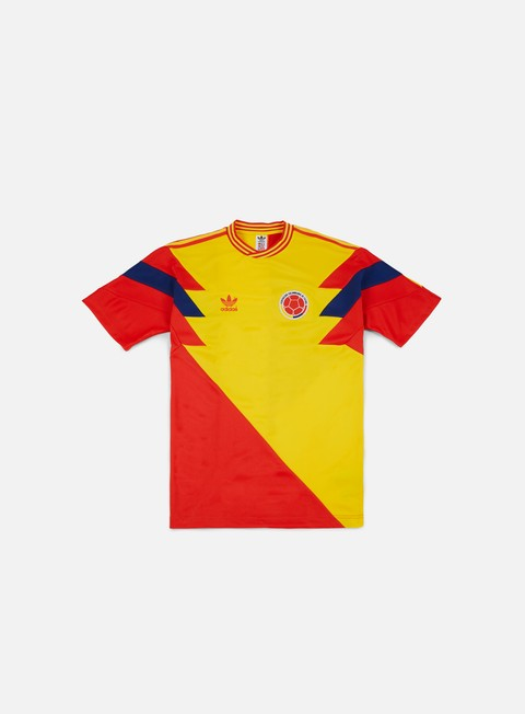 t shirt adidas originals colombia mash up t shirt pure yellow scarlet