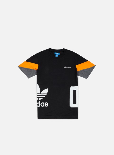 t shirt adidas originals color block t shirt black