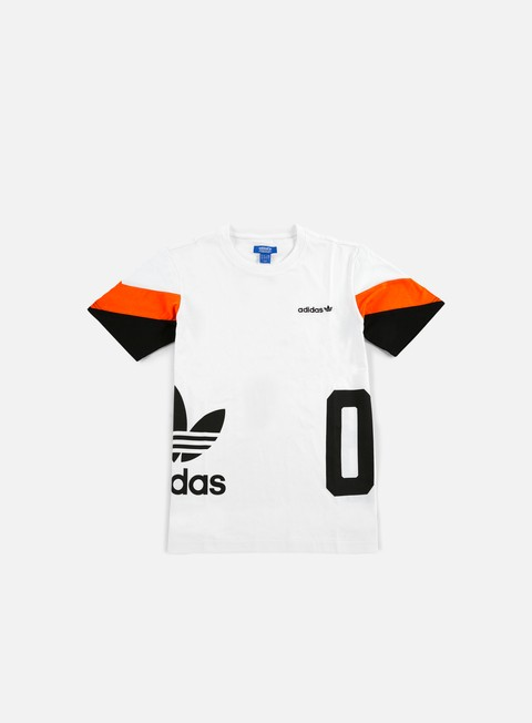 t shirt adidas originals color block t shirt white