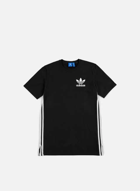 t shirt adidas originals elongated t shirt black