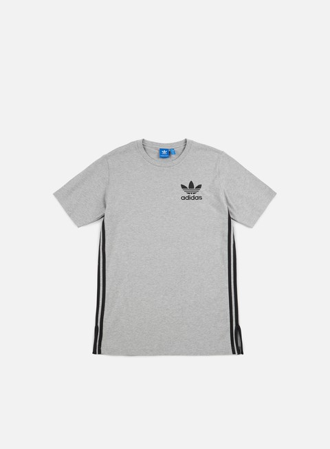 t shirt adidas originals elongated t shirt medium grey heather