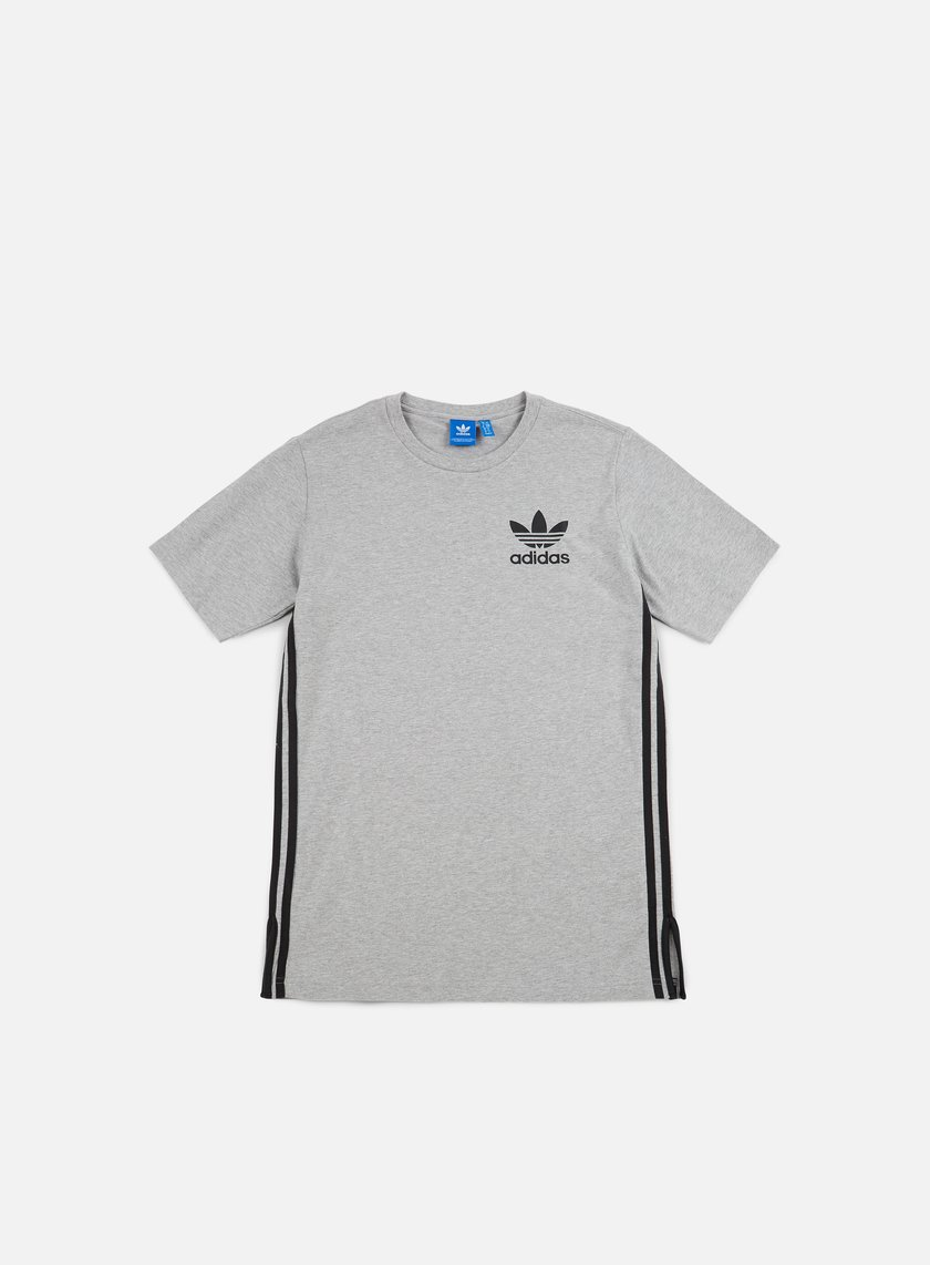 Adidas Originals - Elongated T-shirt, Medium Grey Heather