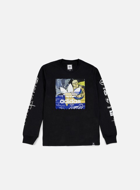 t shirt adidas originals ferg ls t shirt black