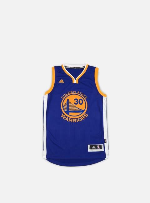 Outlet e Saldi Canotte Adidas Originals Golden State Warriors Swingman Jersey Stephen Curry