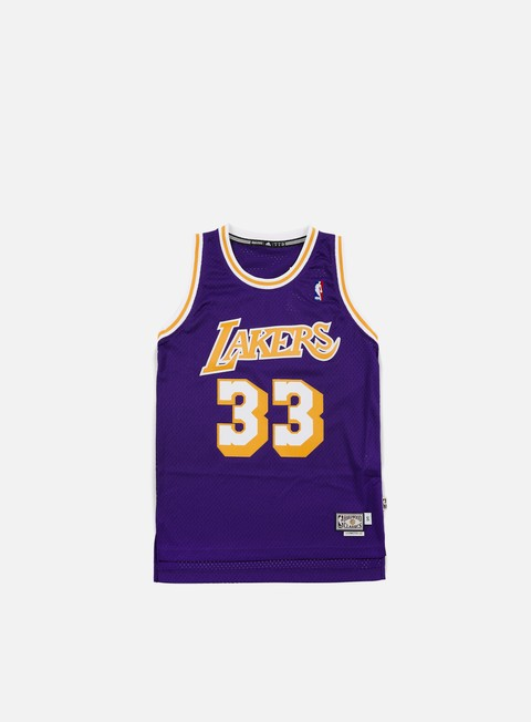 t shirt adidas originals la lakers retired jersey kareem abdul jabbar team colors