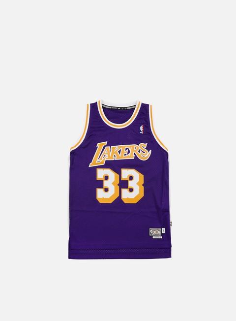Outlet e Saldi Canotte Adidas Originals LA Lakers Retired Jersey Kareem Abdul-Jabbar