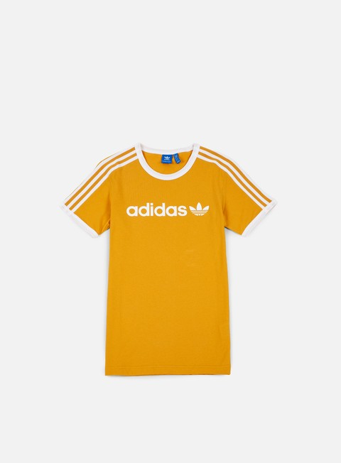 t shirt adidas originals linear t shirt tactile yellow