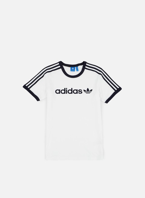 t shirt adidas originals linear t shirt white