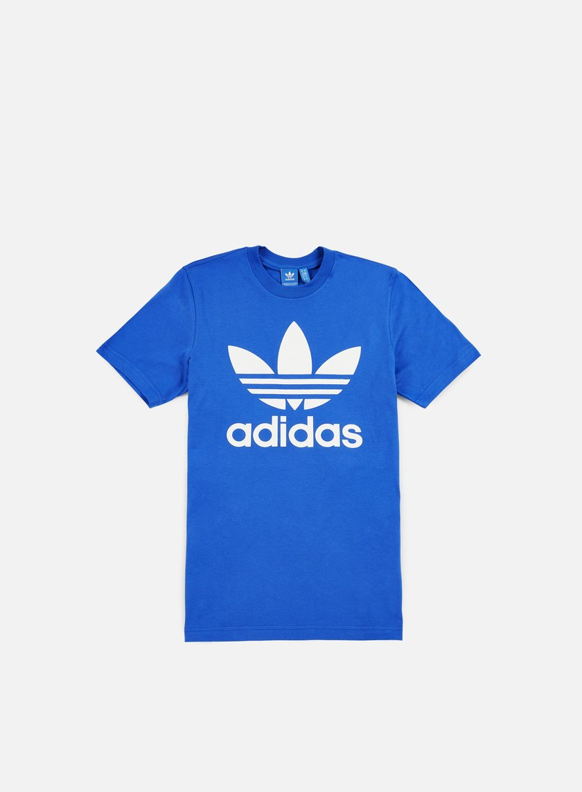 Adidas originals original trefoil t shirt blue 17 40 for Adidas long sleeve t shirt with trefoil logo