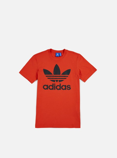 t shirt adidas originals original trefoil t shirt coral red