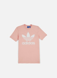 adidas trefoil t shirt red