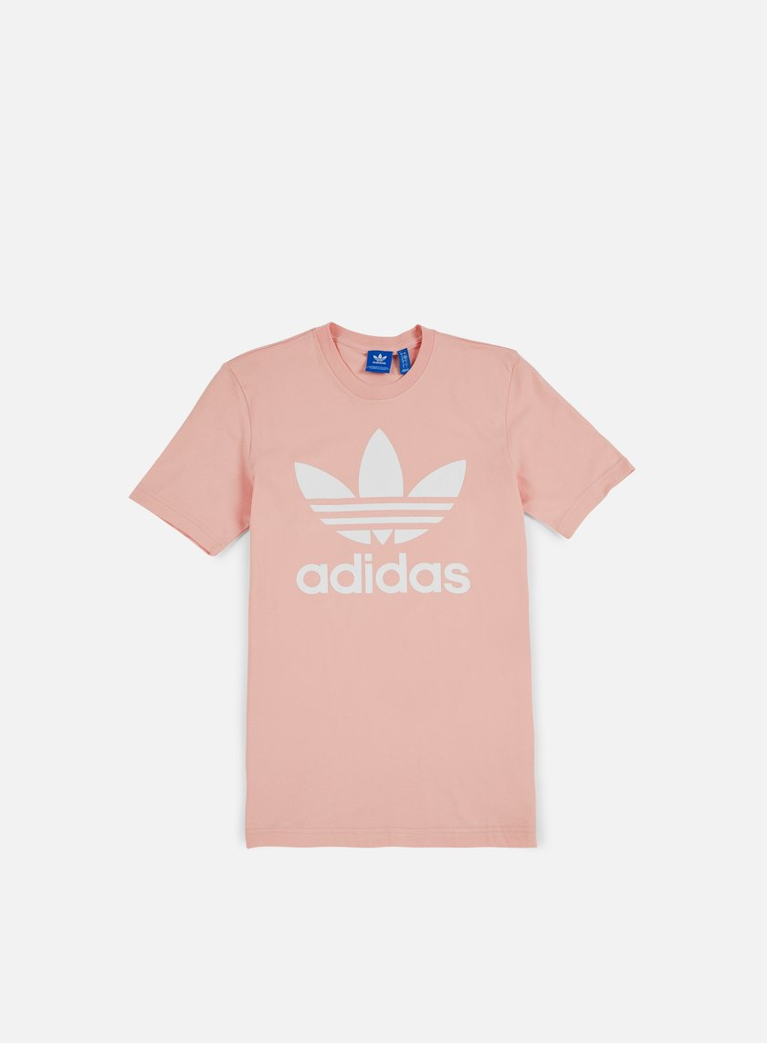 Adidas originals original trefoil t shirt vapour pink for Adidas long sleeve t shirt with trefoil logo