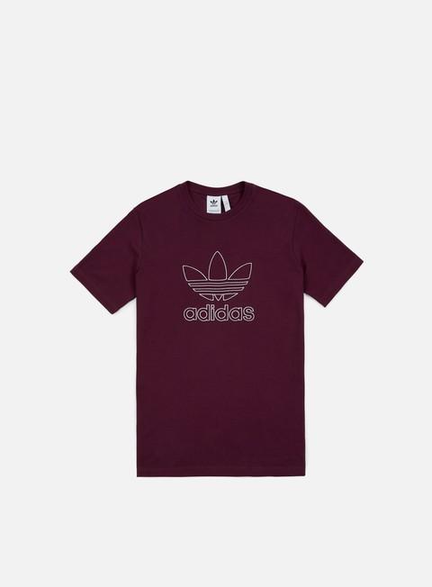 t shirt adidas originals outline t shirt maroon