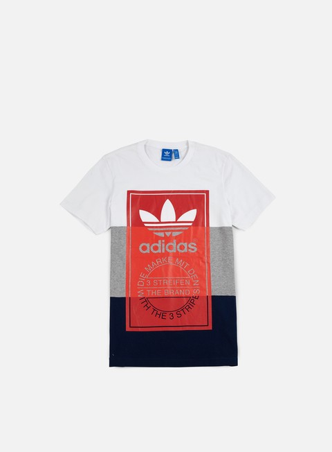 t shirt adidas originals panel tongue t shirt white