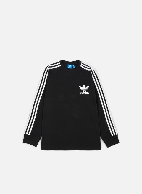 t shirt adidas originals pique ls t shirt black