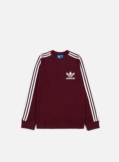 Adidas Originals - Piqué LS T-shirt, Maroon 1