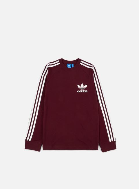 t shirt adidas originals pique ls t shirt maroon
