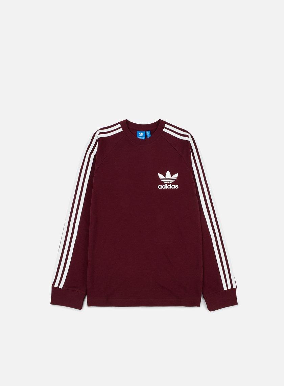 Adidas Originals - Piqué LS T-shirt, Maroon