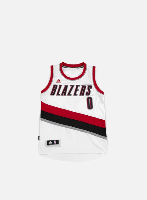 t shirt adidas originals portland trail blazers swingman jersey damian lillard team colors