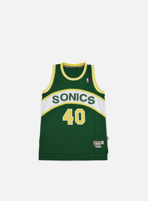 t shirt adidas originals seattle supersonics retired jersey shawn kemp green