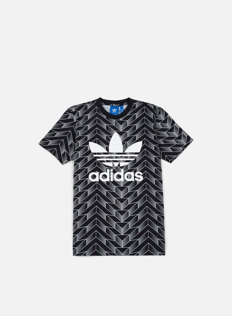 t shirt adidas originals soccer trefoil t shirt black white