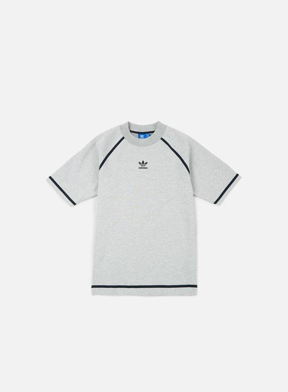 Adidas Originals - Taped Nova T-shirt, Medium Grey Heather/Dark Solid Grey