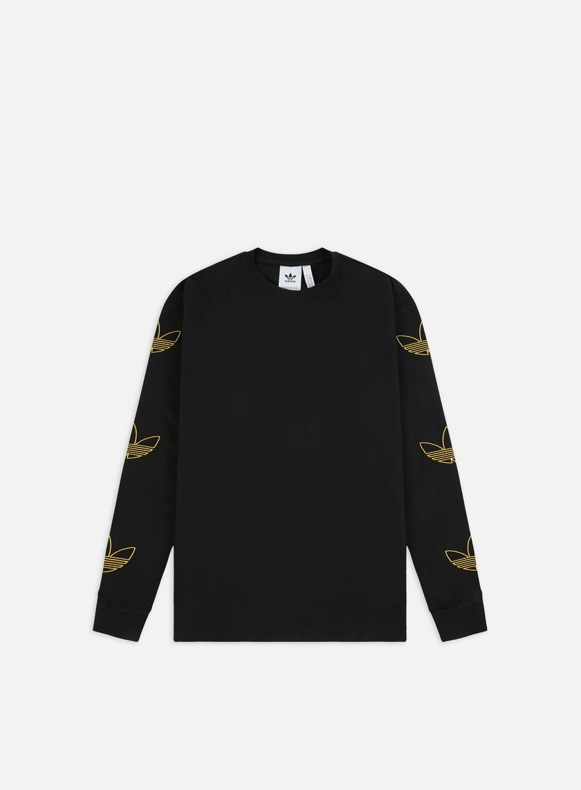 nero and gold adidas t shirt