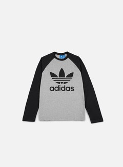 Adidas Originals - Trefoil LS T-shirt, Medium Grey Heather/Black 1