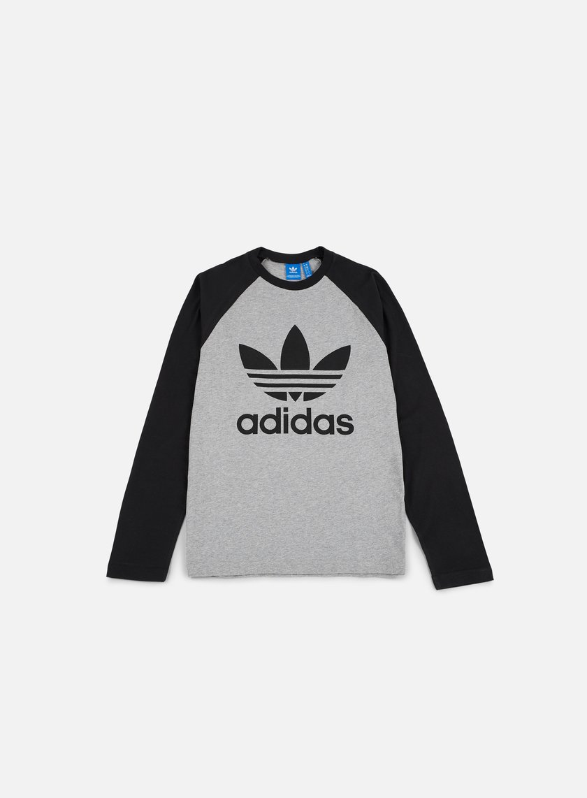 Adidas Originals - Trefoil LS T-shirt, Medium Grey Heather/Black
