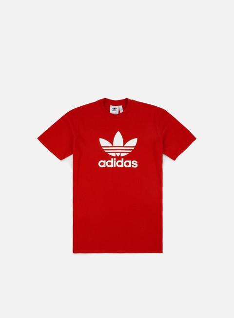 t shirt adidas originals trefoil t shirt scarlet
