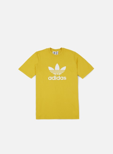 t shirt adidas originals trefoil t shirt tribe yellow
