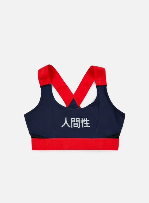 t shirt adidas originals wmns pharrell williams hu race sports bra night marine scarlet