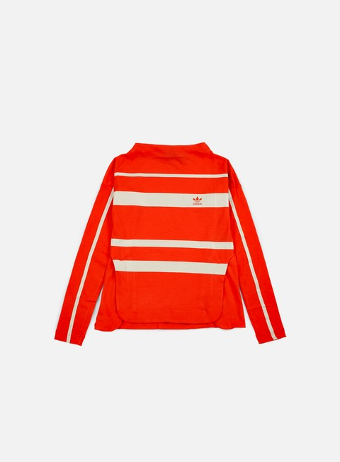 t shirt adidas originals wmns stripe ls t shirt coral red
