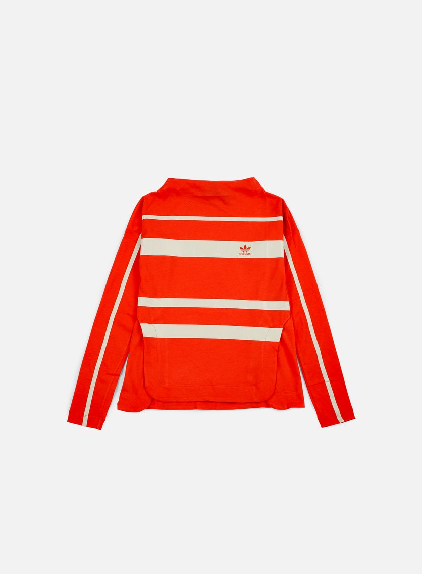 Adidas Originals - WMNS Stripe LS T-shirt, Core Red