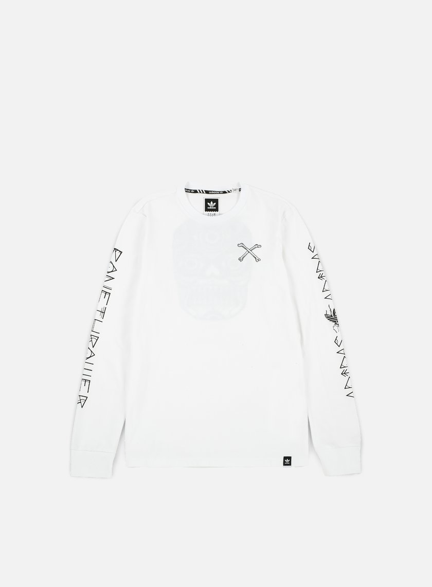 Adidas Skateboarding - Bonethrower LS T-shirt, White