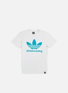 Adidas Skateboarding - Clima 3.0 T-shirt, White/Energy Blue 1