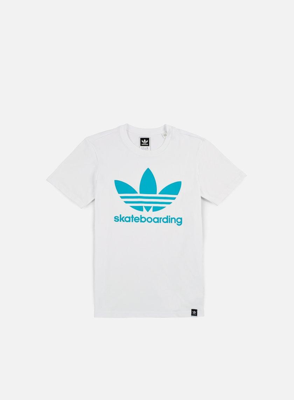 Adidas Skateboarding - Clima 3.0 T-shirt, White/Energy Blue