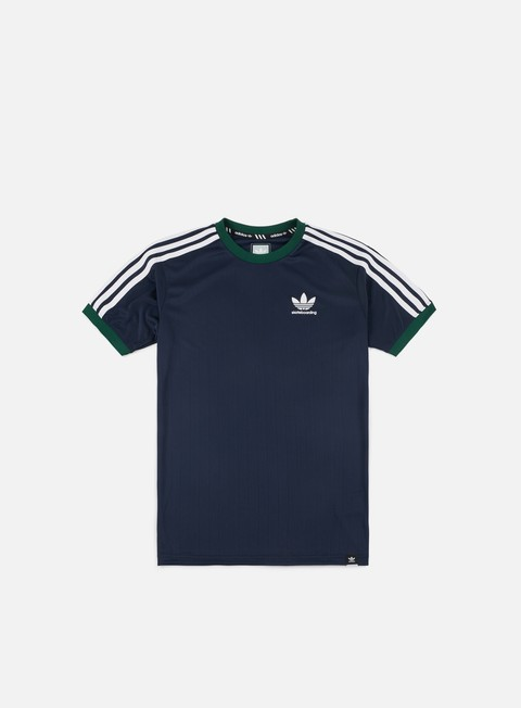 t shirt adidas skateboarding clima club jersey night indigo collegiate green white