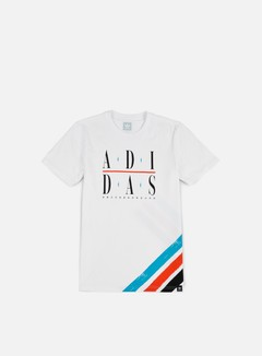 Adidas Skateboarding - Courtside T-shirt, White/Energy Blue 1