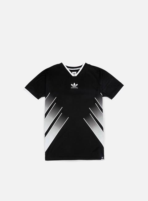t shirt adidas skateboarding eqt jersey black white
