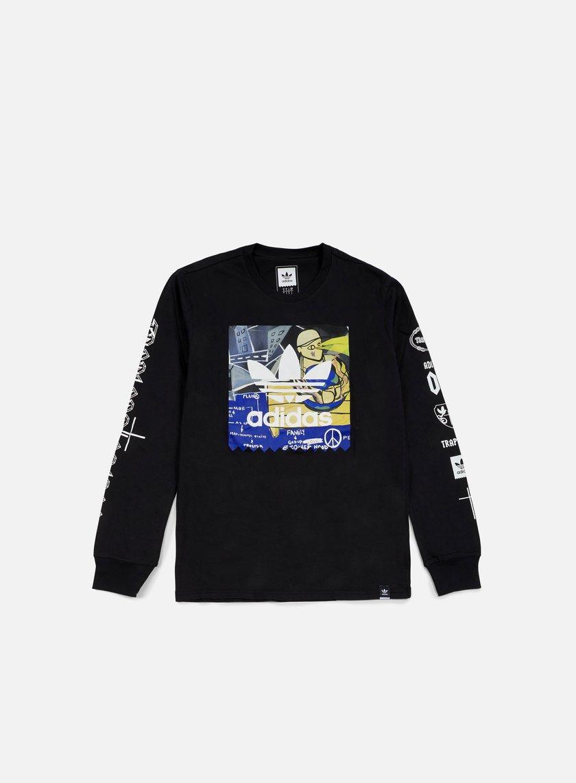 Adidas Skateboarding - Ferg LS T-shirt, Black