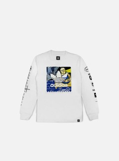 Adidas Skateboarding - Ferg LS T-shirt, White
