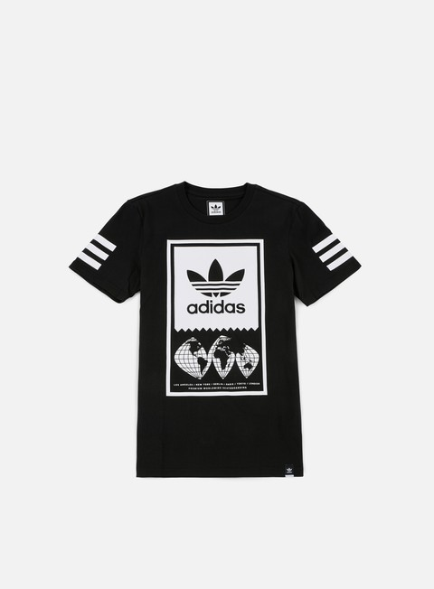 t shirt adidas skateboarding global lock up t shirt black white