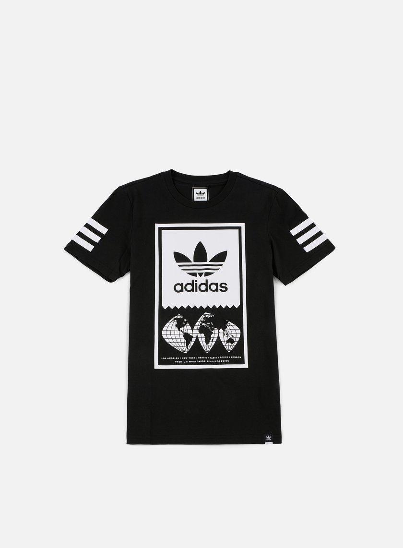 Adidas Skateboarding - Global Lock Up T-shirt, Black/White