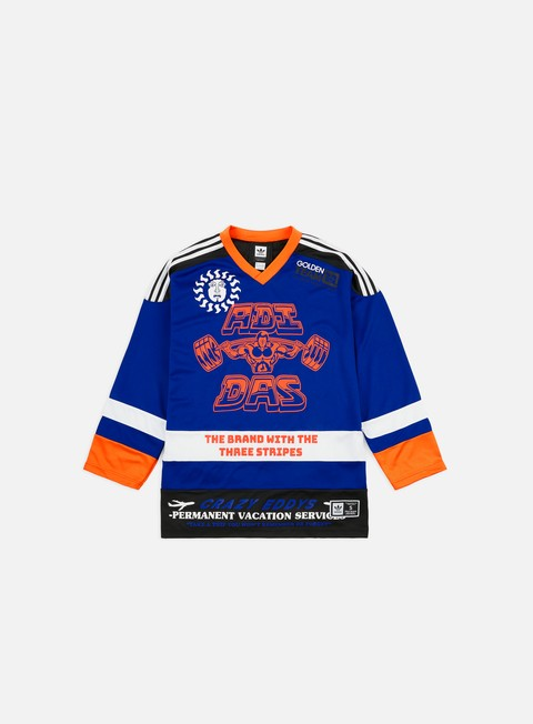 Long Sleeve T-shirts Adidas Skateboarding Hockey Jersey