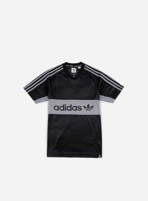 t shirt adidas skateboarding jersey word camo black utility grey grey