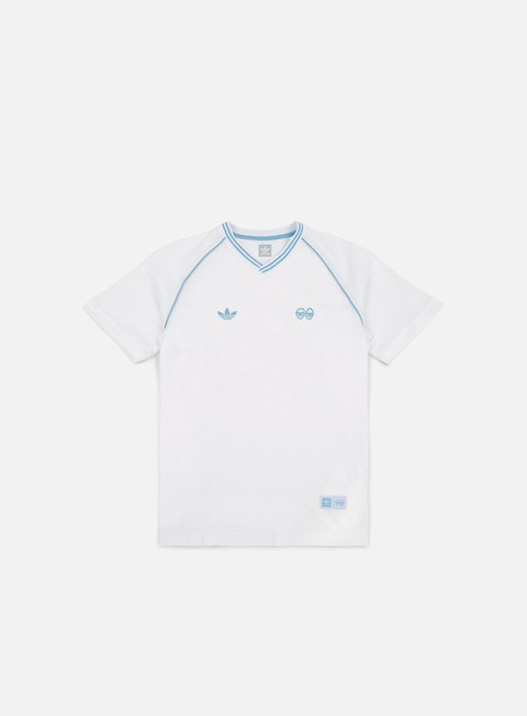 t shirt adidas skateboarding krooked jersey white clear blue